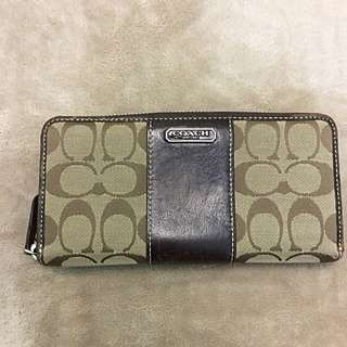 Coach Accordian Zip Wallet