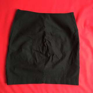 Black High Waisted Mini Skirt