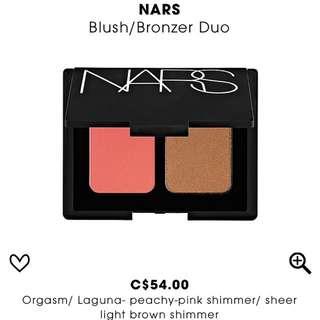 NARS Blush And Bronzer Duo ( Orgasm + Laguna )