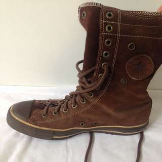 Brown Converse All Star High Top Size 9