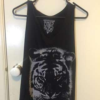 Black Tiger Singlet One Size