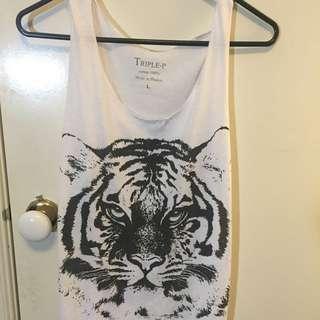 White Tiger Singlet One Size