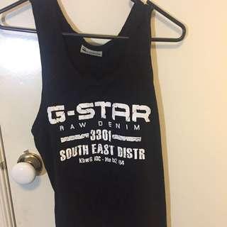 Black G Star Singlet One Size