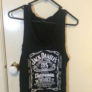 Black Jack Daniels Singlet One Size