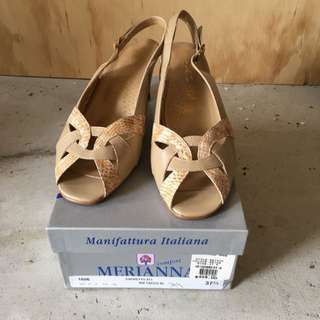 Medianna Italian Leather Shoes Size 37.5