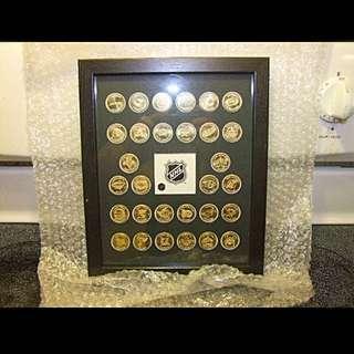 NHL Collectible 30 Coin Team Logo Set