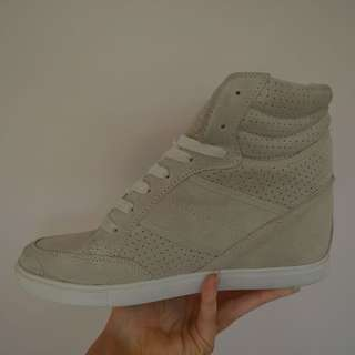 Glassons high top wedge sneakers