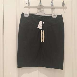 Brand New Black Leather Skirt