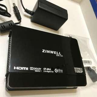 多媒體播放器ZINWELL ZIN-101
