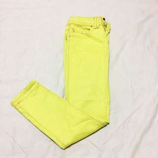 Yellow Stretchable Jeans