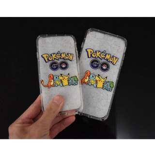 Instock Apple Iphone 7 / Iphone 7 Plus 4 Pokemons Design Transparent Tpu Soft Casing