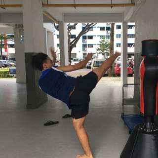 Standing Punching Bag With Head