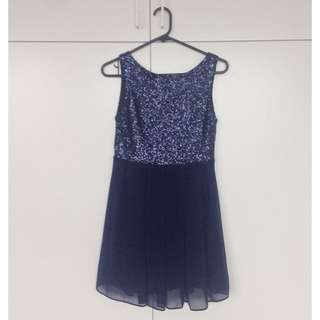ASOS Sequin Dress (Navy)