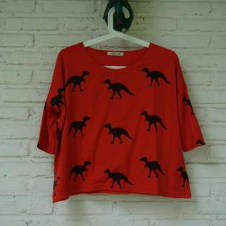 Shirt With Dinosaurs Pattern