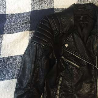 H&M Faux Leather Biker Jacket New
