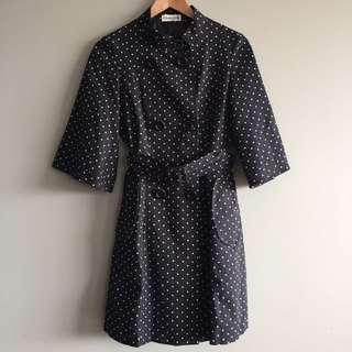 Ladies Black Polka Dot Jacket, 3/4 Sleeves, Size One size fits All, Scarlett & Sly