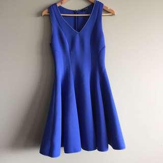 Electric Blue Club Monaco Neoprene Dress, Size 6