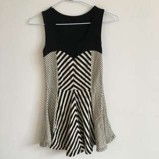 棉製無袖小洋裝