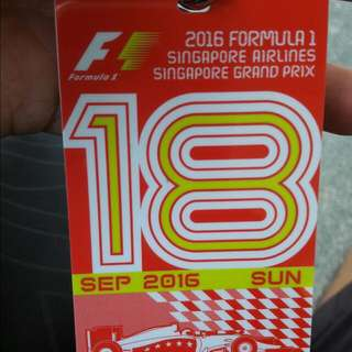 Race Day F1 Walkabout Tix