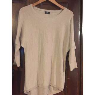 Beige Short Sleeve Jumper