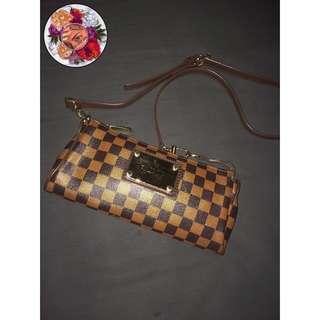 LV damier small sling bag