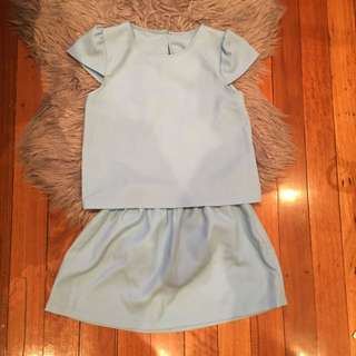 Set Blue Top + Skirt