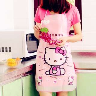 HELLO KITTY Special Offer Apron Kit Bib Apron Cartoon Long Sleeve Cuff Waterproof Aprons