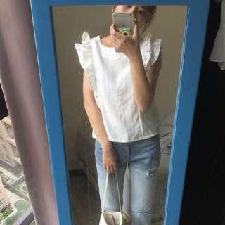 Pazzo白色浪漫上衣