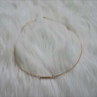 Dainty Small Bar Necklace