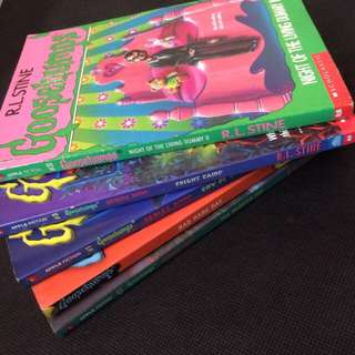 Stacks of 5 Goosebumps series