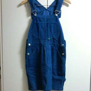 UNITED COLORS OF BENETON DRESS OVERALLS