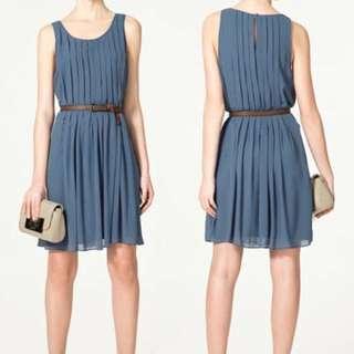 Zara Woman Kate Middleton Blue Dress