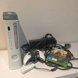 XBOX 360 (Console And Wires)