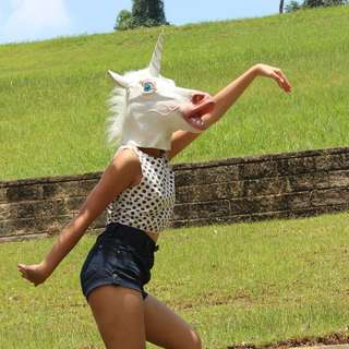 [Available For Pick Up Immediately!] Unicorn Head Mask