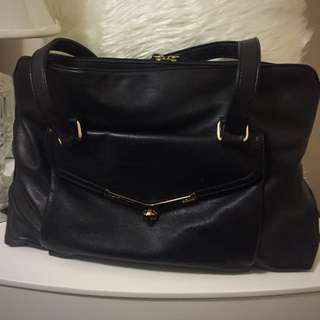 Large Black Handbag by Kate Hill