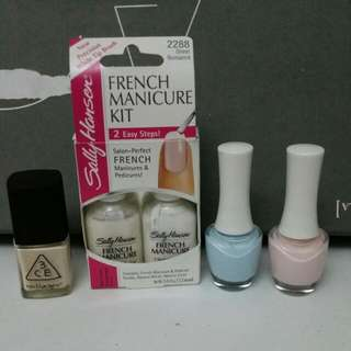 Various 5pc Nail Lacquer Set (3CE, Sally Hansen, The Face Sop)