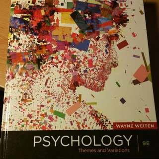 Pending Psychology Theme And Variarion 9th Edition