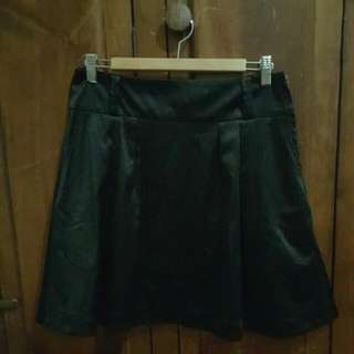 Silky Black Skirt