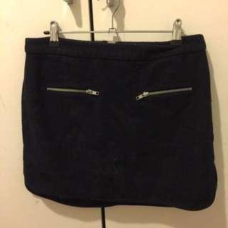 Black Zip Detail Skirt Size M