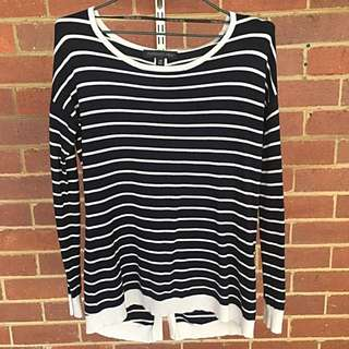 FOREVER NEW Stripe Knit Top