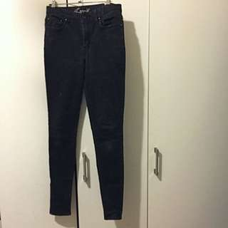 Levis Black High-waisted Jeans size 26