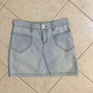 Acid-washed Denim Skirt