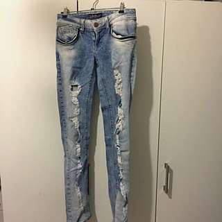 Zara Ripped Blue Jeans Size 28