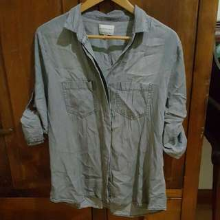 Grey Button Up