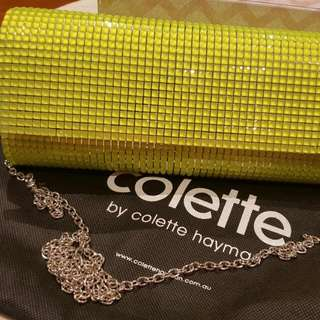 Collette Neon Green Clutch