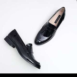Brand New Shiny Leather Loafers