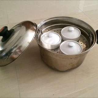 鍋寶不銹鋼蒸燉鍋