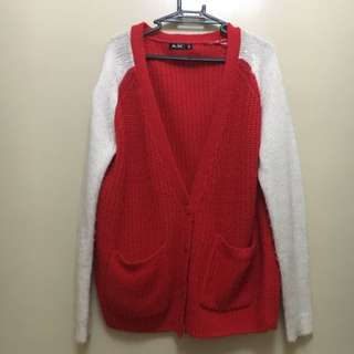 Thick Knitted Varsity Jacket