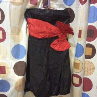 Black with Red ribon dress