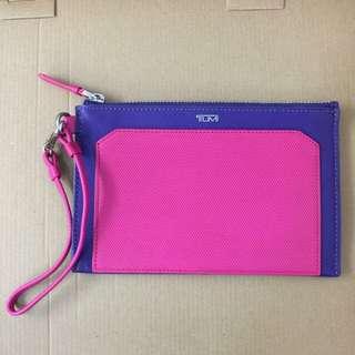 Tumi紫色 桃紅色 護照夾 卡夾 證件夾 皮包